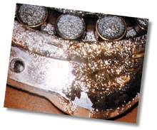 Deposits on Backside Dryer Bearing