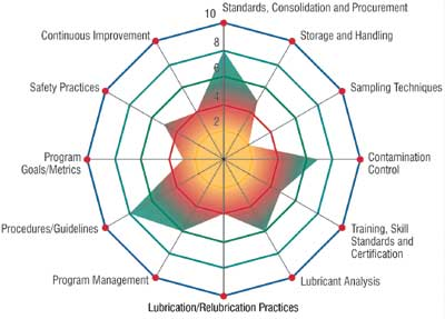 steps to establish an effective lubrication programspider diagram