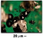 Large Spherical Ferrous Particles on Filtergram