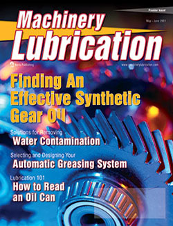 Machinery Lubrication - Cover - 5/2001