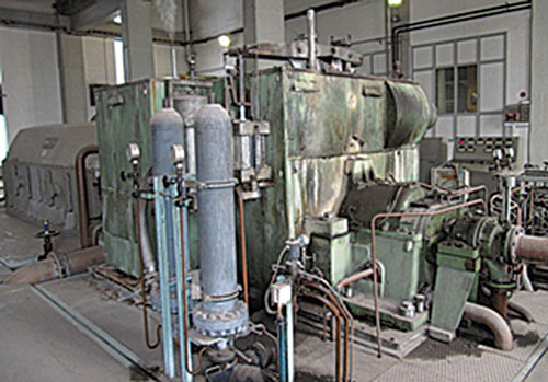 A steam turbo-generator at a cellulose industry plant