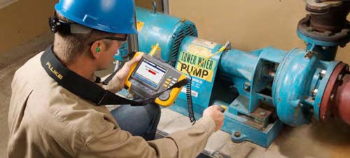 Vibration tester keeps the good stuff flowing at alpenrose for Dc motor vibration analysis