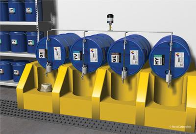 Oil drum dispensing system