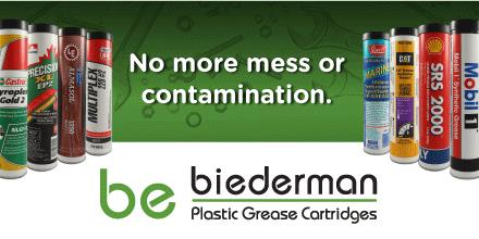 Ask for Your Grease in a Biederman Plastic Cartridge.