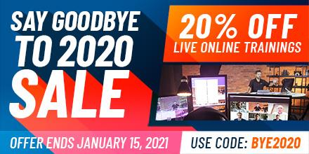 Say Goodbye to 2020 with 20% Off Training