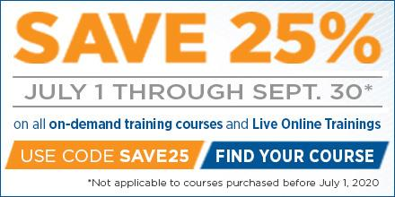 Sale Extended! Save 25% on On-demand & Online Training