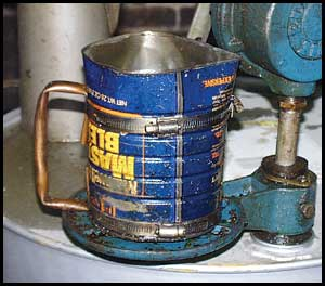 Example of Poor Oil Top-up Container