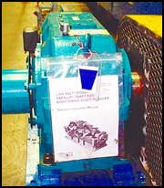 Colored Oil Labels Installed on Equipment