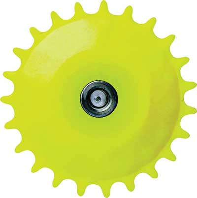 Lubri-sprocket Used to Lubricate Chains