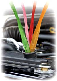Can i mix green and pink engine coolant
