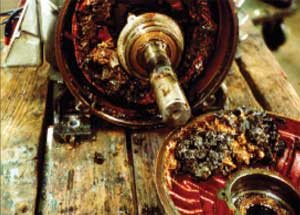 Overgreasing Causes Motor to Fill with Grease