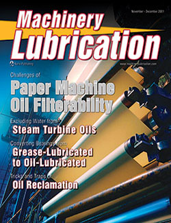 Machinery Lubrication - Cover - 11/2001