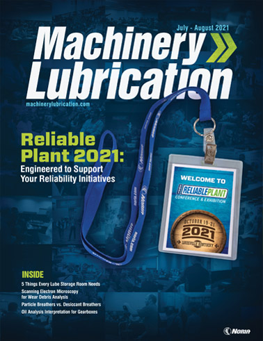 Machinery Lubrication - Cover - 8/2021