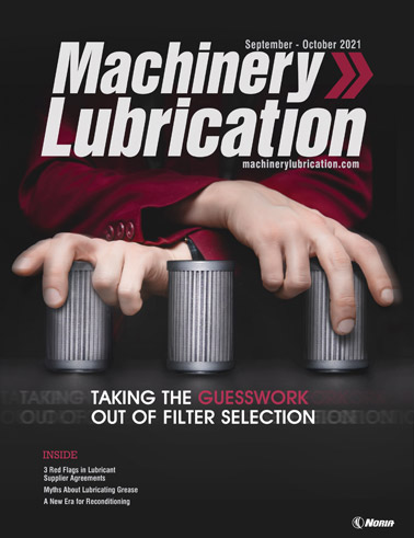 Machinery Lubrication - Cover - 10/2021
