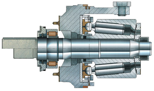 Rexroth A4VSO rotating group cross-section