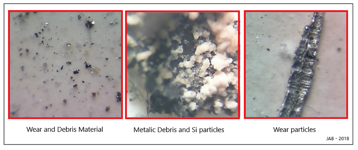 Wear and contamination under the microscope.